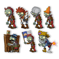 Plants vs. Zombies 2 Wall Decals: Special Wild West Zombies Set I (Seven 6 inch tall Zombies)