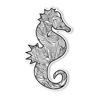 Begsonland Seahorse Doodle Decal