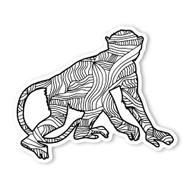 Begsonland Chimpanzee Doodle Decal