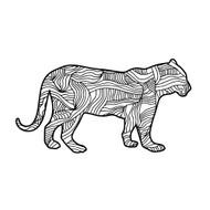 Begsonland Panther Doodle Decal