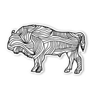 Begsonland Buffalo Doodle Decal