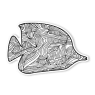 Begsonland Tropical Fish Doodle Decal