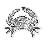Begsonland Crab Doodle Decal