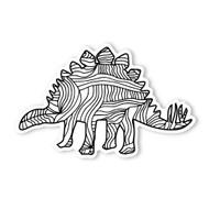 Begsonland Stegosaurus Doodle Decal
