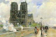 Cathedral of Notre Dame 1888 by Hassam