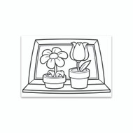 Crayola Coloring Wall Graphic: Potted Plants