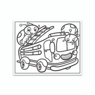 Crayola Coloring Wall Graphic: Ladybug Firetruck