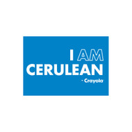 Crayola Colors Wall Graphic: I AM Cerulean