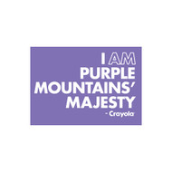 Crayola Colors Wall Graphic: I AM Purple Mountains' Majesty