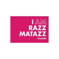 Crayola Colors Wall Graphic: I AM Razz Matazz