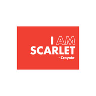 Crayola Colors Wall Graphic: I AM Scarlet