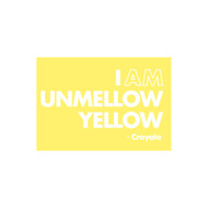 Crayola Colors Wall Graphic: I AM Unmellow Yellow