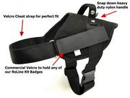 RedLine K9 Patrol Dog Harness Black