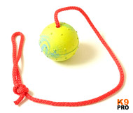 Redline Euro Ball on Rope. Great reward training ball, made from durable rubber.