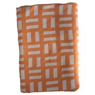 Branberry 100% Cotton Knit Cot Blanket - Brick Design