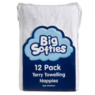 Big Softies 12 Pack Towelling Cotton Nappies
