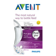 Avent 120ml Glass 'Natural' Feeding Bottle