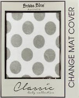 Bubba Blue Change Mat Cover-Grey Polka Dots