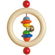 Heimess Wooden Touch Ring Beads Rattle - Excellent German Quality
