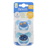Dr Brown's Prevent Orthodontic Soother 6-12 months 2 Pack