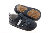 Playette Leather Collection - Riley Leather Sandals - Navy