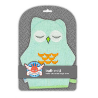 Weegoamigo  Bath Mitt - Teal Owl