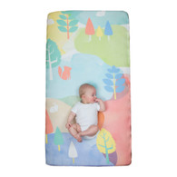 Weegoamigo  WOW Cot Fitted Sheet - Watercolour Woods