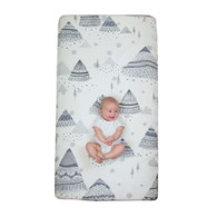 Weegoamigo  WOW Cot Fitted Sheet - Mountain Line