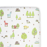 Weegoamigo  Large Cradle Fitted Sheet - Forest Friend