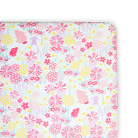 Weegoamigo  Large Cradle Fitted Sheet - Blooming Bunny