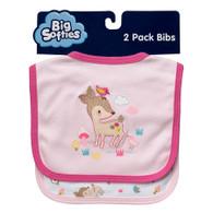 Big Softies 2 pack Bibs -  Girl
