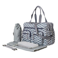 OiOi Carry All Nappy Bag Smokey Blue Eclipse Dot