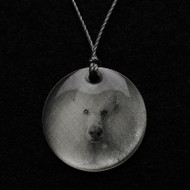 Poodle (White) Pendant Necklace