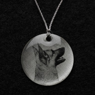 German Shepherd Pendent Necklace