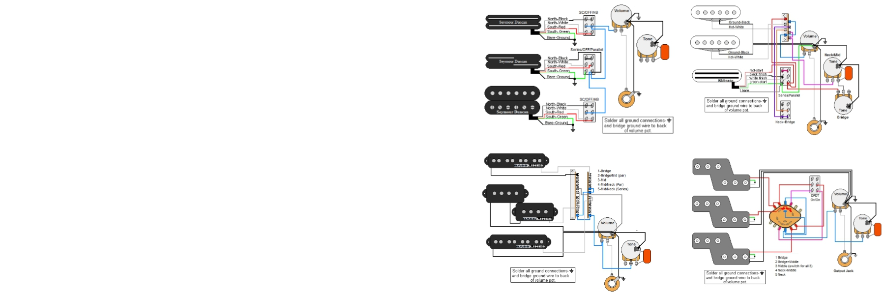 Guitar electronics parts & wiring diagrams guitarelectronics com on dean guitar wiring diagrams JB Humbucker Pickup Wiring Diagram Gibson Explorer Wiring Diagram