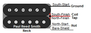 Paul Reed Smith 3 Wire Neck Humbucker Color Codes