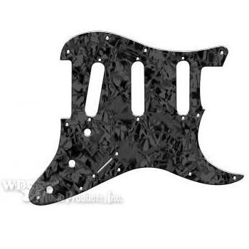 Strat 3 Single Coil Pickguard-3Ply Black Pearl