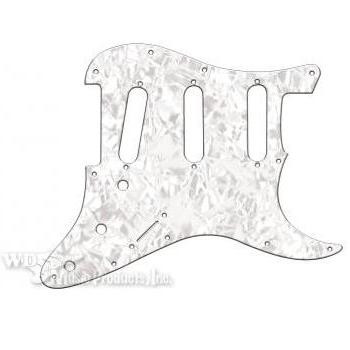 Strat 3 Single Coil Pickguard-3Ply White Pearl