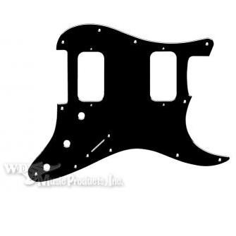 Strat Double Fat/Big Apple Pickguard-3Ply Black