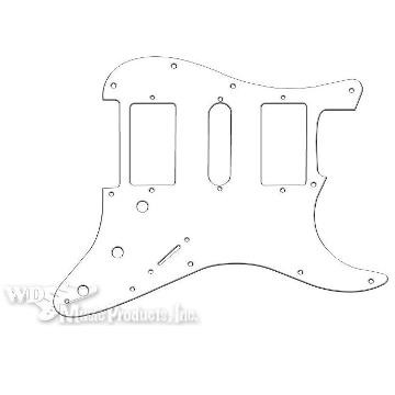 Strat Hum/Single/Hum Pickguard-3Ply White