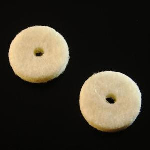 Strap Button Felt Washers-White