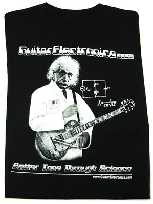 Guitar Electronics Einstein Logo T-Shirt BACK