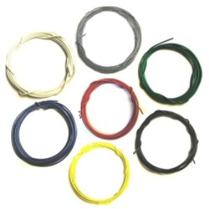 Stranded 26 Gauge Guitar Circuit Wire Bulk Pack-7 Colors