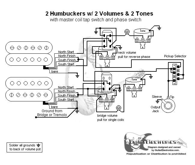 2 Hbs  3 2 Vol  2 Tones  Coil Tap  U0026 Reverse Phase