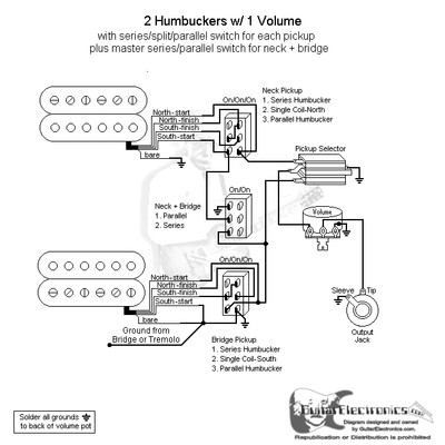 2 HBs/3-Way Toggle/1 Vol/Series-Split-Parallel & Master Series-Parallel