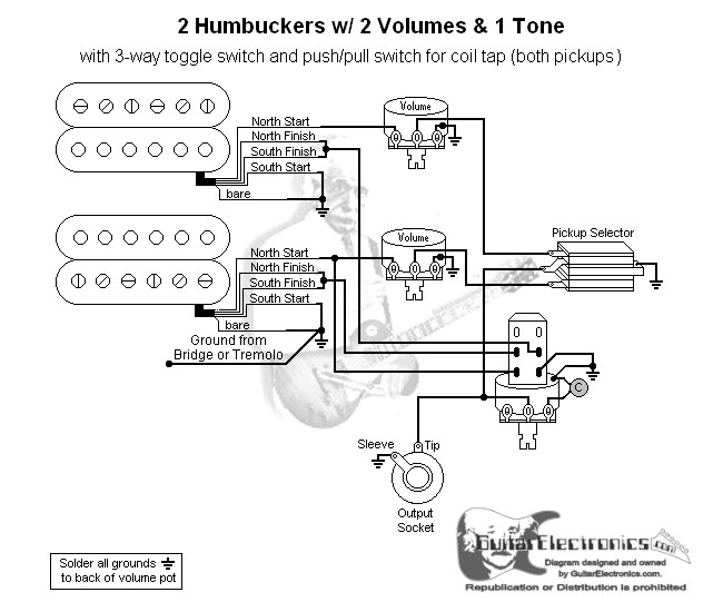 switchcraft 3 way switch wiring diagram 2 humbuckers    2       humbuckers       3       way    toggle    switch       2    volumes 1 tone coil tap     2       humbuckers       3       way    toggle    switch       2    volumes 1 tone coil tap