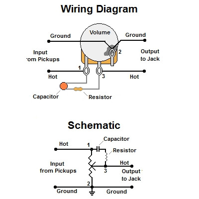 Emg B Pickups Wiring Diagram furthermore Single Pole Double Throw Thermostat Wiring Diagram additionally Dimarzio Wire Diagram Single Volome And 3 Way Switch as well Showthread further Volume Treble Bleed Bypass Circuit W Series Resistor. on humbucker wiring diagrams