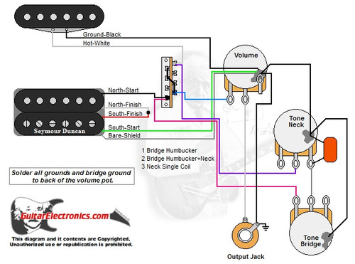 1 Humbucker/1 Single Coil/3-Way Lever/1 Volume/2 Tones/00