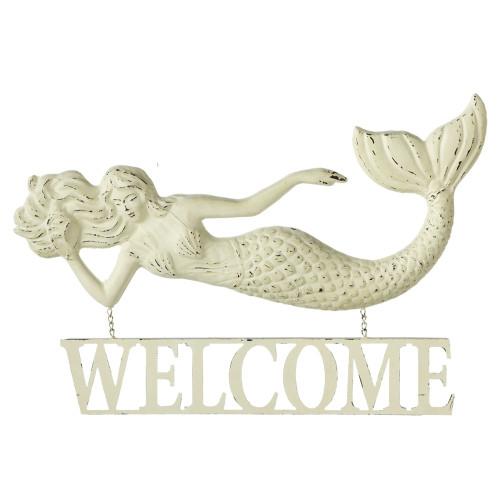 Mermaid Welcome Large Sign  Nautical Seasons
