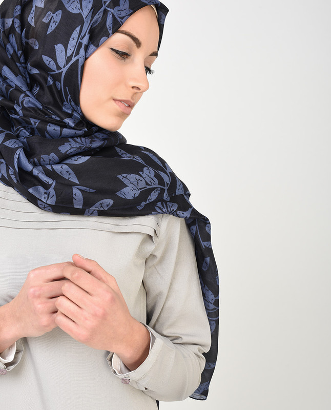 Nightshadow Purple Silk Hijab